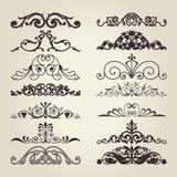 Elementos decorativos de la vendimia Fotos de archivo