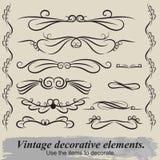 Elementos decorativos de la vendimia Foto de archivo