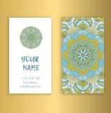 Elementos decorativos de la vendimia Tarjetas de visita Floral ornamental Fotos de archivo libres de regalías