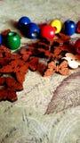 Elementos decorativos de madeira Fotos de Stock Royalty Free