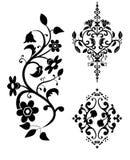 Elementos decorativos de um teste padrão - a   imagens de stock royalty free