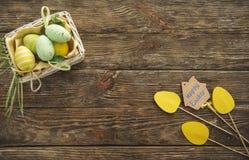 Elementos decorativos del día de fiesta de pascua Fotos de archivo