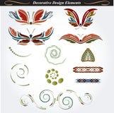 Elementos decorativos 13 del diseño Imagen de archivo