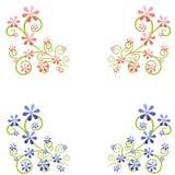 Elementos decorativos del diseño de la flor del resorte Fotos de archivo libres de regalías