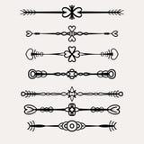 elementos decorativos del diseño del vector Fotografía de archivo