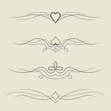 elementos decorativos del diseño del vector Fotos de archivo