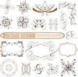 Elementos decorativos del diseño del vector: decoración de la paginación Fotos de archivo