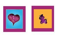 elementos decorativos del estilo de papel de los iconos 3d Fotografía de archivo