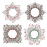 Elementos decorativos del guilloquis Foto de archivo libre de regalías