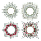 Elementos decorativos del guilloquis Imagen de archivo