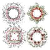 Elementos decorativos del guilloquis Fotografía de archivo libre de regalías