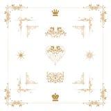 elementos decorativos del oro, Imagenes de archivo