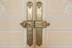 Elementos decorativos del oro Foto de archivo