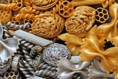 Elementos decorativos del oro y de la plata, fondo, textura Imágenes de archivo libres de regalías