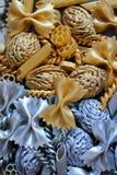 Elementos decorativos del oro y de la plata, fondo, textura Imagen de archivo