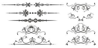 Elementos decorativos del remolino Imagen de archivo libre de regalías