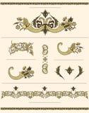 Elementos decorativos del vintage Foto de archivo libre de regalías
