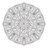 Elementos decorativos del vintage de la flor de la mandala stock de ilustración