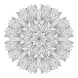 Elementos decorativos del vintage de la flor de la mandala ilustración del vector