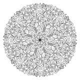 Elementos decorativos del vintage del vector de la flor de la mandala ilustración del vector