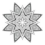 Elementos decorativos del vintage del vector del tatuaje de la mandala ilustración del vector