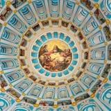 Elementos decorativos dentro da igreja ortodoxa do russo fotos de stock