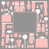 Elementos decorativos do casamento Fotografia de Stock Royalty Free