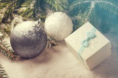 Elementos decorativos do Natal Imagem de Stock