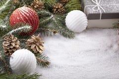 Elementos decorativos do Natal Imagens de Stock