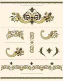 Elementos decorativos do vintage Foto de Stock Royalty Free