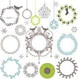 Elementos decorativos - estilo do círculo Fotos de Stock
