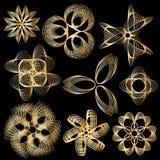 Elementos decorativos - estilo do Fractal Imagens de Stock Royalty Free