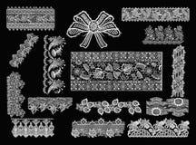 Elementos decorativos - estilo do laço Fotos de Stock