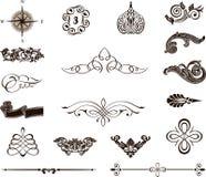 Elementos decorativos - estilo real Imagens de Stock Royalty Free