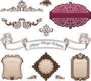 Elementos decorativos - estilo real Foto de Stock Royalty Free