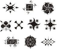 Elementos decorativos geométricos simétricos Imagem de Stock Royalty Free