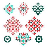 Elementos decorativos isolados Imagem de Stock