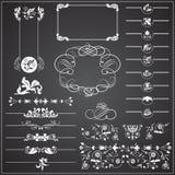 Elementos decorativos - linhas & beiras Foto de Stock