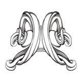Elementos decorativos no estilo do vintage Imagem de Stock Royalty Free