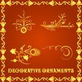 Elementos decorativos para projetos Fotografia de Stock