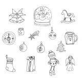 Elementos decorativos por las vacaciones de invierno para el diseño libre illustration