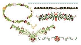 Elementos decorativos tradicionais Imagem de Stock