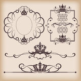 Elementos decorativos. Vintage ilustração stock