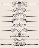 Elementos decorativos. Vintage Imagens de Stock Royalty Free