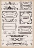 Elementos decorativos. Vintage Fotografia de Stock