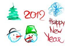 Elementos del Año Nuevo Foto de archivo libre de regalías