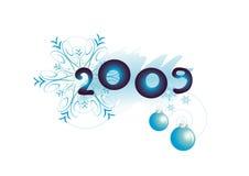 Elementos del Año Nuevo ilustración del vector