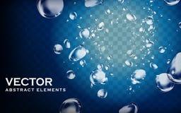 Elementos del agua profunda ilustración del vector