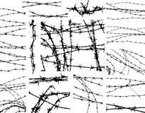 Elementos del alambre de púas Foto de archivo libre de regalías