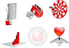 elementos del asunto del diseño 3d. ilustración del vector